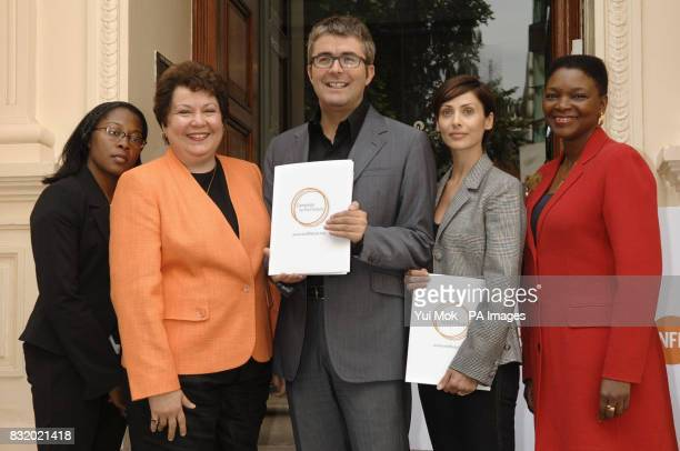 Dr Gloria Esegbona Dr Arletty Pinel James Murphy singer and actress Natalie Imbruglia and Baroness Amos during a press conference to launch an...