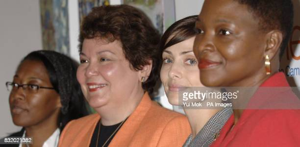 Dr Gloria Esegbona Dr Arletty Pinel singer and actress Natalie Imbruglia and Baroness Amos during a press conference to launch an advertising...