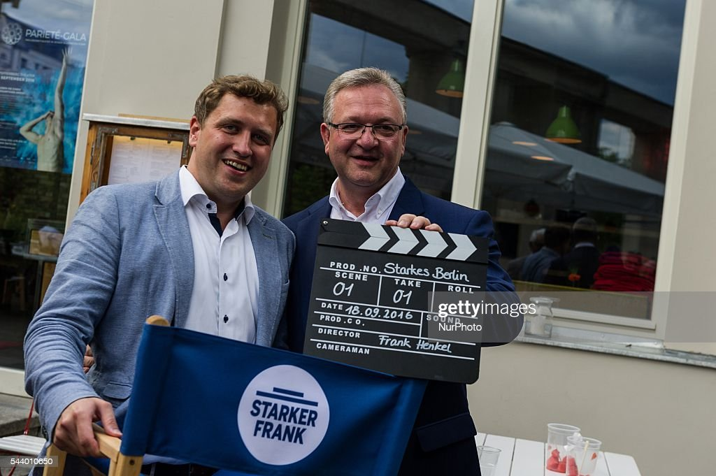 Dr. Gottfried Ludewig (L) and Germany Senator for the Interior and Sport Frank Henkel (R) during CDU summer festival held in Berlin, Germany, on 30 June 2016.