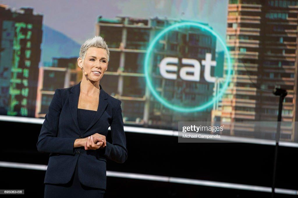 Dr. Gunhild Stordalen speaking at EAT Stockholm Food Forum at the Clarion Hotel Sign on June 12, 2017 in Stockholm, Sweden.