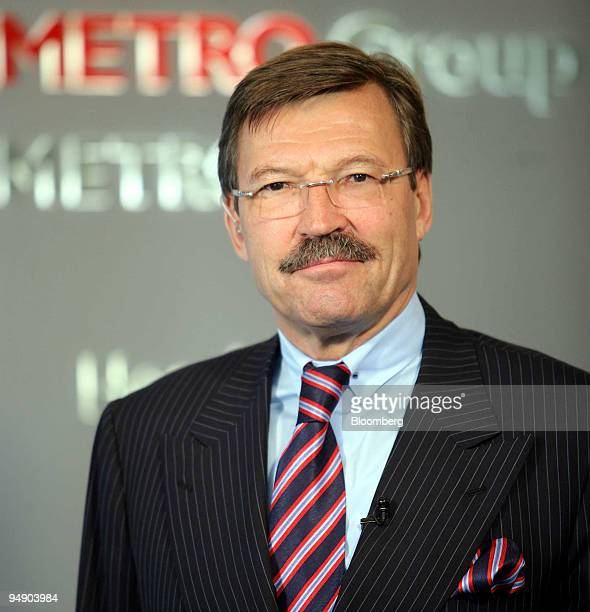 Dr HansJoachim Koerber chief executive officer of Metro AG poses during a press conference in Duesseldorf Germany Tuesday August 02 2005 Metro AG the...
