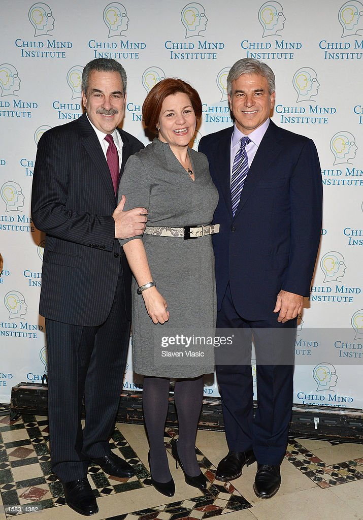 Dr. Harold Koplewicz, Christine Quinn and honoree Michael D. Fascitelli attend Child Mind Institute's 3rd Annual Child Advocacy Award Dinner at Cipriani 42nd Street on December 12, 2012 in New York City.