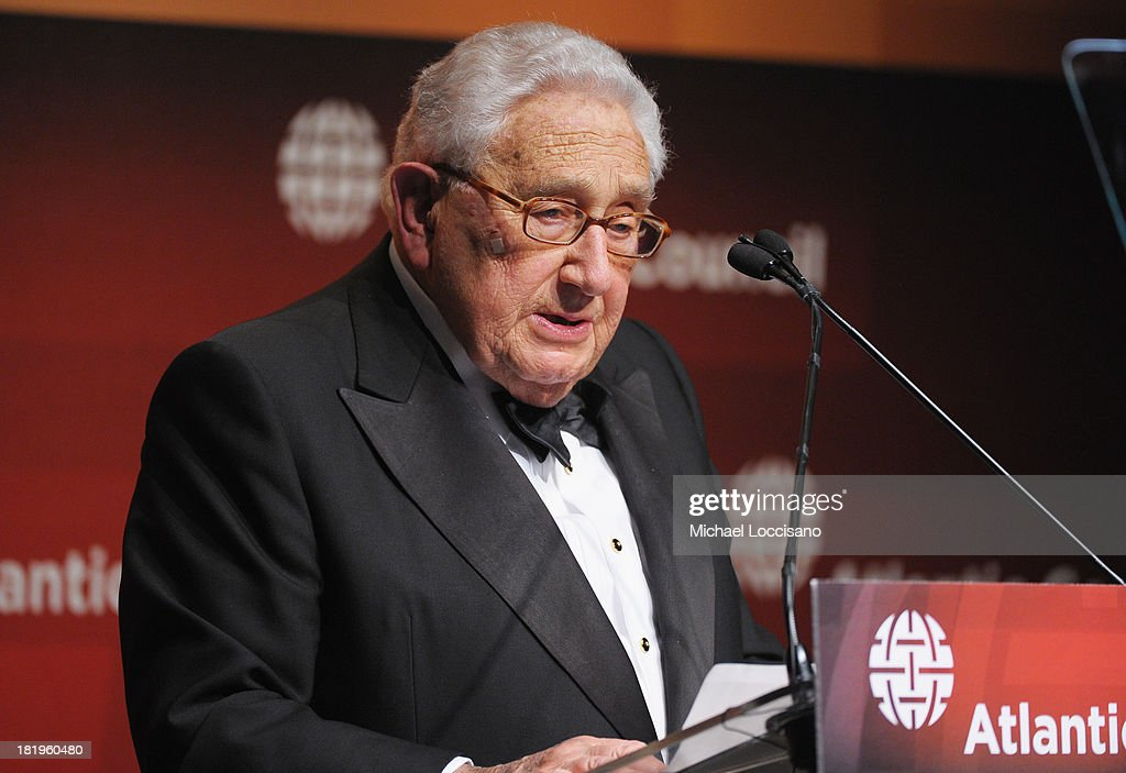 Dr. <a gi-track='captionPersonalityLinkClicked' href=/galleries/search?phrase=Henry+Kissinger&family=editorial&specificpeople=154883 ng-click='$event.stopPropagation()'>Henry Kissinger</a> addresses the audience during the 2013 Global Citizen Awards Ceremony on September 26, 2013 in New York City.