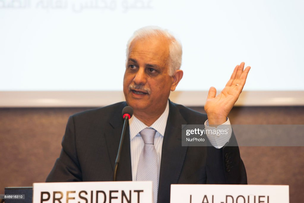 Dr. Ibrahim Al-Adoufi at United Nations in Geneva, Switzerland on 13 September 2017. In a special report on the human rights situation presented on September 13, 2017, at the 36th session of the Human Rights Council in Geneva,The Yemeni Coalition for Monitoring Human Rights Violations in Yemen called on the Human Rights Council to compel the Houthis and Saleh militias to implement the Council's resolutions on Yemen.
