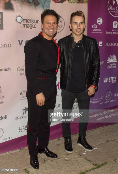 Dr Ivan Manero and Jorge Lorenzo pose during a photocall for the 'Apuesta Por Ellas' charity event on November 16 2017 in Sant Cugat del Valles Spain
