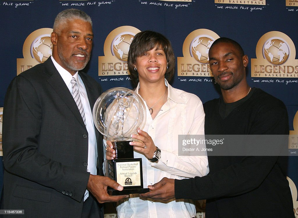 Dr. J, Cheryl Miller and <a gi-track='captionPersonalityLinkClicked' href=/galleries/search?phrase=Ben+Gordon&family=editorial&specificpeople=202181 ng-click='$event.stopPropagation()'>Ben Gordon</a> during NBA Retired Players Association Annual All-Star Weekend and Bruncheon - February 18, 2007 at Mandalay Bay Hotel and Resort in Las Vegas, Nevada, United States.