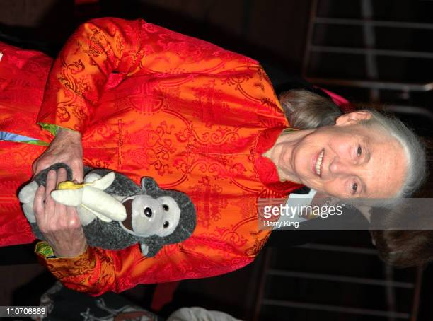 Dr Jane Goodall during The Jules Verne Adventure Film Festival and Expositions Arrivals at The Shrine Auditorium in Los Angeles California United...