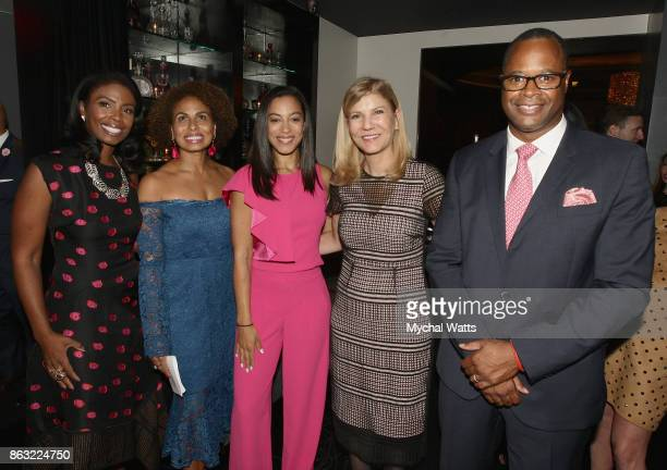Dr Janna Andrews Keisha SuttonJames CNN's Angela Rye Dr Laura Forese and Dr Kevin Holcomb attend the 'Kicked it in Heels' Cancer Fundraiser at...