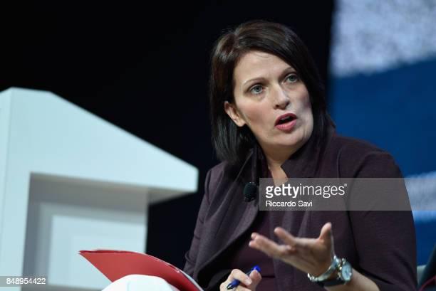Dr Jennifer Bond Chair Global Refugee Sponsorship Initiative speaks at The 2017 Concordia Annual Summit at Grand Hyatt New York on September 18 2017...