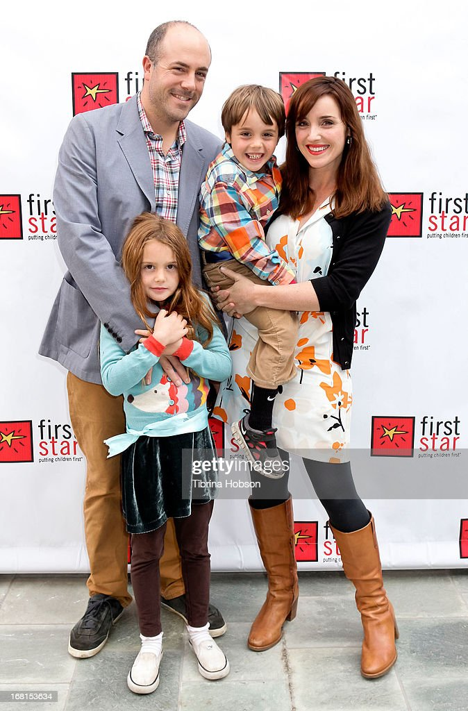 Dr. Jennifer Jones (R), Mike Jones (L) and family attend the 9th annual First Star Celebration of children's rights at Skirball Cultural Center on May 5, 2013 in Los Angeles, California.