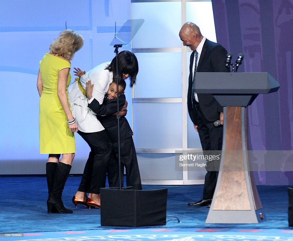 Dr. <a gi-track='captionPersonalityLinkClicked' href=/galleries/search?phrase=Jill+Biden&family=editorial&specificpeople=997040 ng-click='$event.stopPropagation()'>Jill Biden</a>, First Lady <a gi-track='captionPersonalityLinkClicked' href=/galleries/search?phrase=Michelle+Obama&family=editorial&specificpeople=2528864 ng-click='$event.stopPropagation()'>Michelle Obama</a> Jalen Frankel and <a gi-track='captionPersonalityLinkClicked' href=/galleries/search?phrase=J.R.+Martinez&family=editorial&specificpeople=4233581 ng-click='$event.stopPropagation()'>J.R. Martinez</a> attend the 2013 Kids' Inaugural: Our Children, Our Future on January 19, 2013 in Washington, DC.