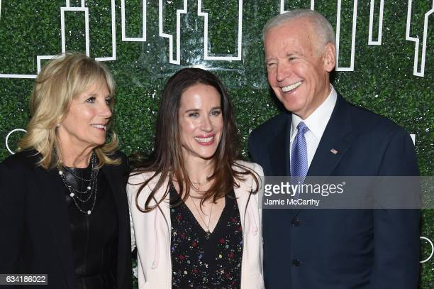 Dr Jill Biden Livelihood founder Ashley Biden and Vice President Joe Biden attend the GILT and Ashley Biden celebration of the launch of exclusive...