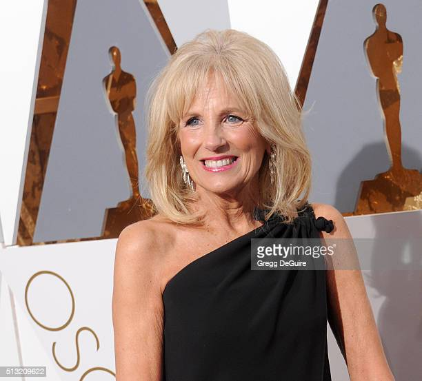 Dr Jill Biden wife of US Vice President Joe Biden arrives at the 88th Annual Academy Awards at Hollywood Highland Center on February 28 2016 in...