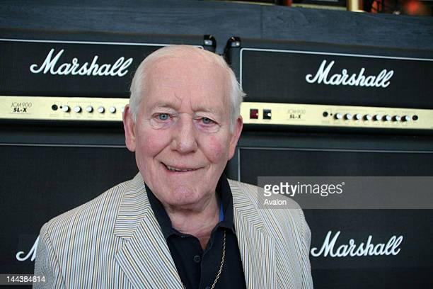Dr Jim Marshall OBE at Marshall Amplification plc worldwide headquarters which he founded in 1962 makers of the rock world famous Marshall Amplifiers...