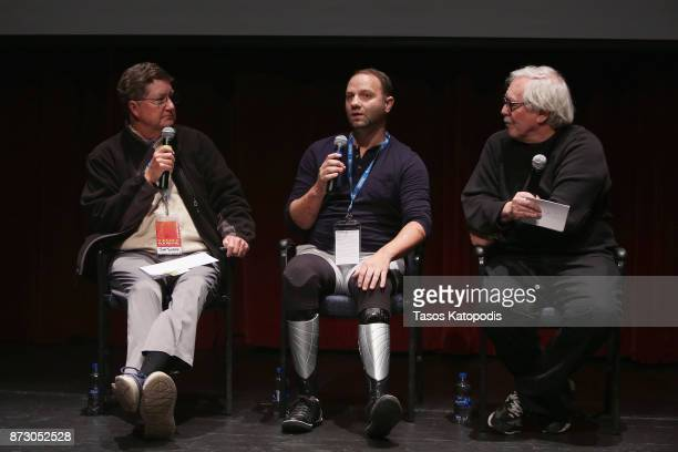 Dr Jim Turner Dell Miller and moderator Harry Chotiner speak onstage at the 'Starfish' screening and QA at PVCC Dickinson Center during the 30th...
