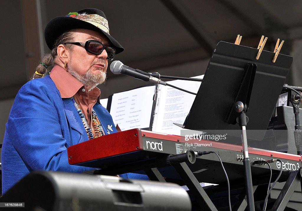 Dr. John and the Nite Trippers perform during the 2013 New Orleans Jazz & Heritage Music Festival presented by Shell at Fair Grounds Race Course on April 26, 2013 in New Orleans, Louisiana.