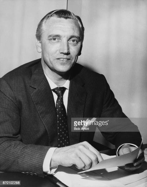 Dr John McGregor Hill the new chairman of the UK Atomic Energy Authority at his office at the organisation's headquarters in London 17th October 1967