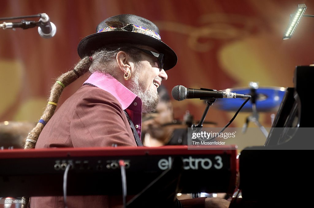 Dr. John of Dr. John & the Nite Trippers performs during the 2016 New Orleans Jazz & Heritage Festival at Fair Grounds Race Course on April 30, 2016 in New Orleans, Louisiana.