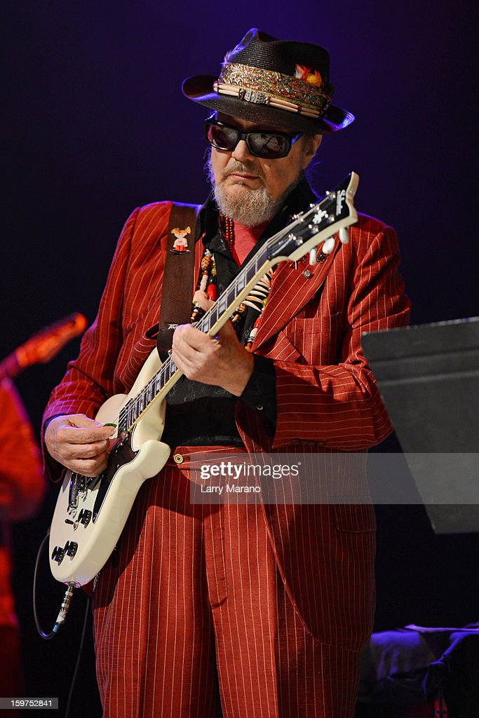Dr. John performs during the Sunshine Blues Festival at Mizner Park Amphitheatre on January 19, 2013 in Boca Raton, Florida.