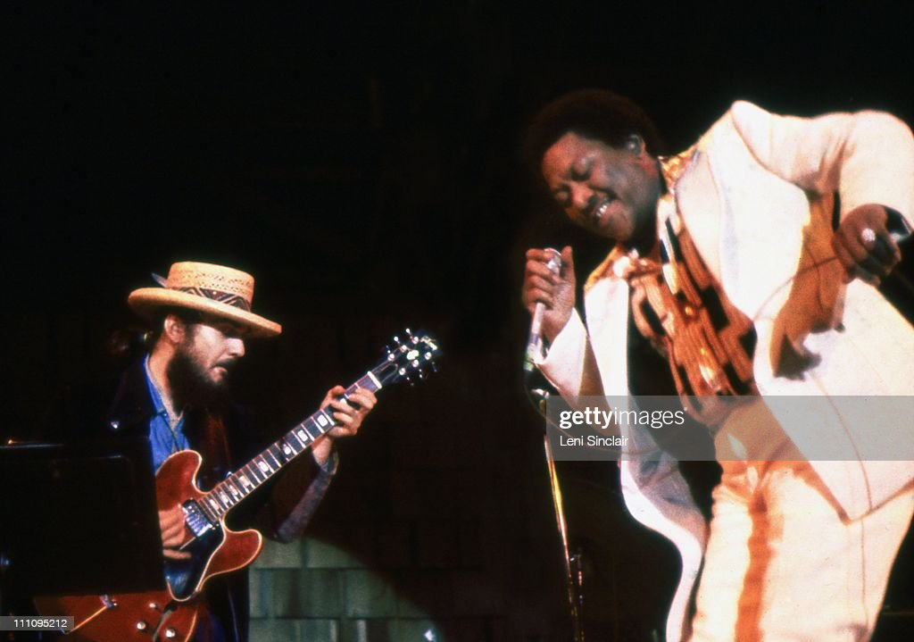 Dr John plays Guitar with Bobby Blue Bland at the Ann Arbor Blues and Jazz Festival in 1972 in Ann Arbor Michigan