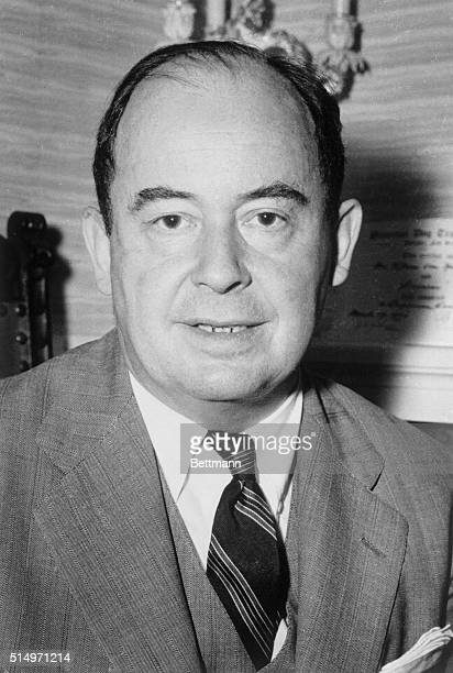 Dr John Von Neumann world famous mathematician and member of the Atomic Energy Commission died of cancer at the Walter Reed Army Medical Center here...