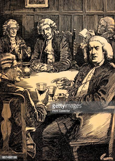 Dr Johnson Discoursing With His Friends' circa 1900 Samuel Johnson referred to as Dr Johnson an English writer poet essayist moralist literary critic...