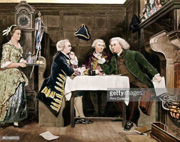 Dr Johnson Goldsmith and Boswell The trio meeting at the Mitre Tavern in the City of London Supplement to The Bookman 1909 Artist Eyre Crowe