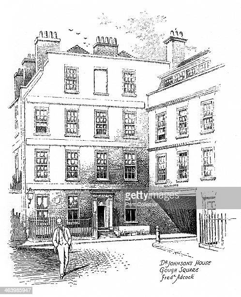 Dr Johnson's House 17 Gough Square London 1912 The home of English lexicographer and man of letters Samuel Johnson now a museum Illustration from...