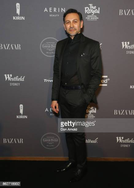 Dr Joseph Hkeik arrives ahead of BAZAAR in Bloom at The Ivy on October 18 2017 in Sydney Australia