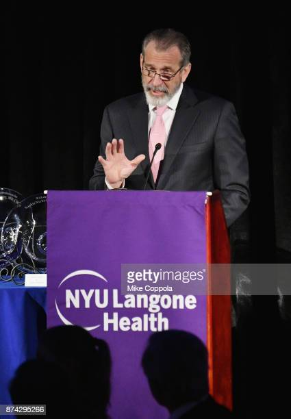Dr Joseph Zuckerman speaks onstage during the NYU Langone Health's 2017 Musculoskeletal Ball on November 14 2017 at the American Museum of Natural...