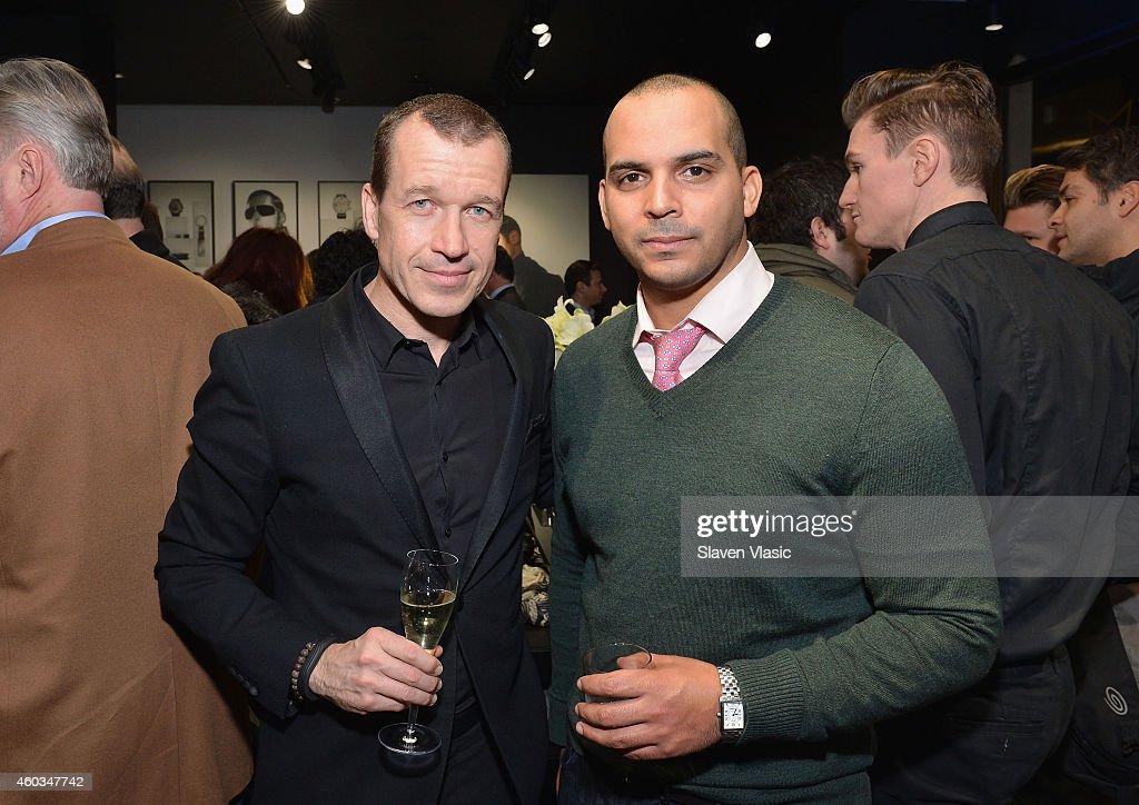 Dr Juergen Gessler CEO Porsche Design Group and guest attend Porsche Design An Evening Of Style at Madison Avenue flagship store on December 11 2014...