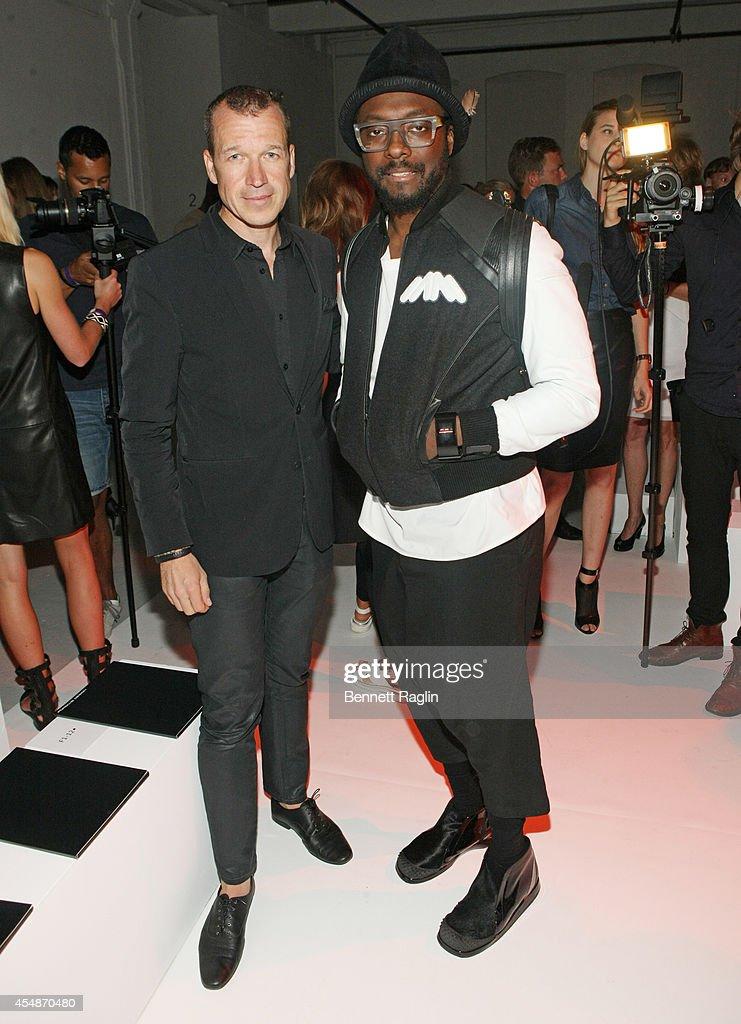 Dr Juergen Gessler CEO Porsche Design Group and Recording artist william and Jessica Hart attend Porche Design during MercedesBenz Fashion Week...
