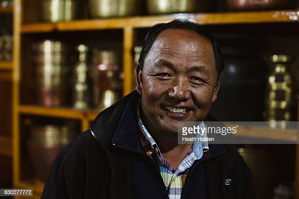 Dr Kami Temba Sherpa at his lodge in Thame he has been a health worker in the Khumbu region for over 20 years he helped a lot of people during the...