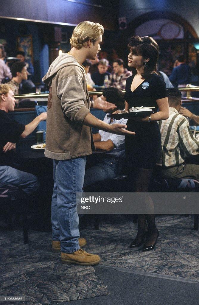 YEARS 'Dr Kelly' Episode 10 Air Date Pictured MarkPaul Gosselaar as Zack Morris Tiffani Thiessen as Kelly Kapowski Photo by Alice S Hall/NBCU Photo...
