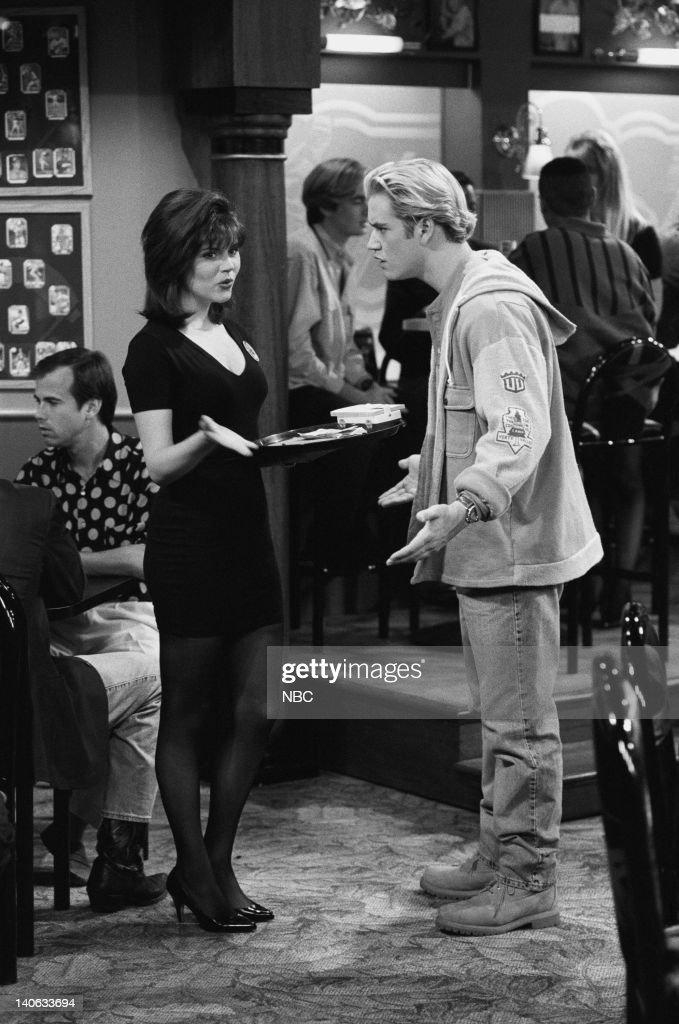 YEARS 'Dr Kelly' Episode 10 Air Date Pictured Tiffani Thiessen as Kelly Kapowski MarkPaul Gosselaar as Zack Morris Photo by Alice S Hall/NBCU Photo...