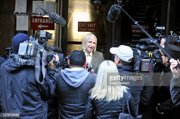 Dr Khristine Eroshevich leaves court after being aquitted of all charges on January 6 2011 in Los Angeles California Both Eroshevich and Stern were...