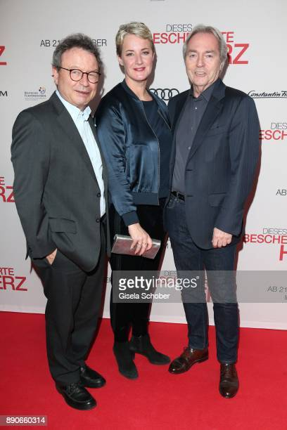 Dr Klaus Schaefer Viola Jaeger and Harald Kuegler during the 'Dieses bescheuerte Herz' premiere at Mathaeser Filmpalast on December 11 2017 in Munich...