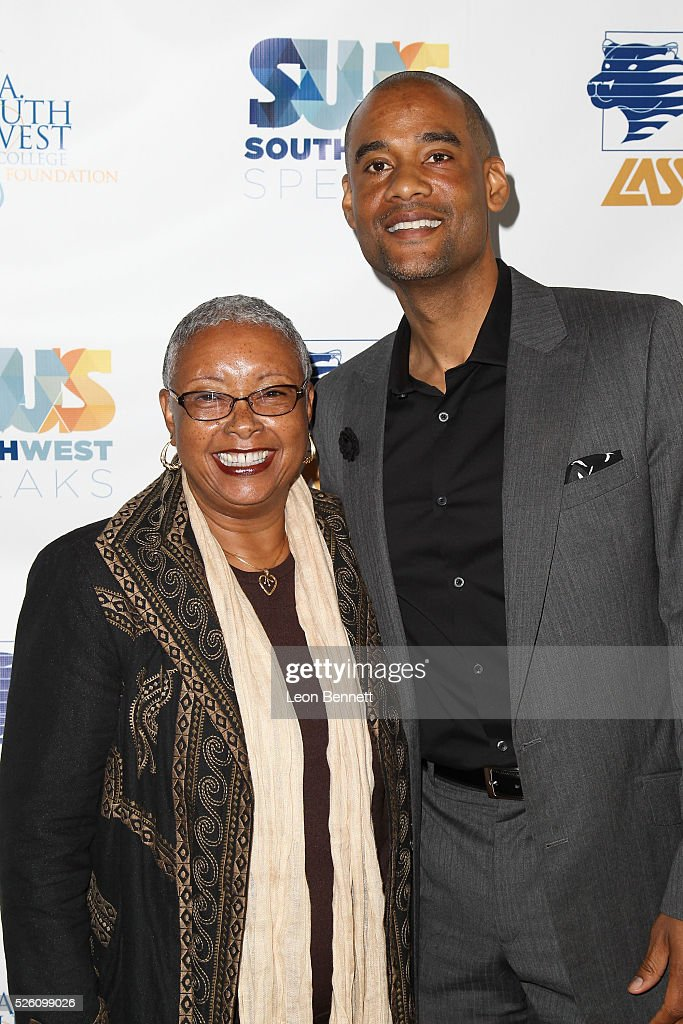 Dr. Linda Rose and Karim Webb attends Hollywood Insiders Talk Diversity In Entertainment at L.A. Southwest College Foundation on April 29, 2016 in Los Angeles, California.