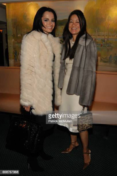 Dr Lisa Airan and Helen Lee Schifter attend Andre Leon Talley and Robert Burke host at La Caravelle for Loulou de la Falaise Collection on February...