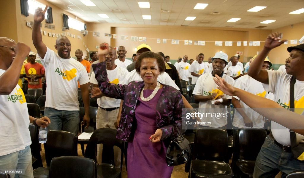 Dr. Mamphela Ramphele during a press conference on September 25, 2013, in Hammanskraal, South Africa. Ramphele promoted a repair for the country, stating that the current government has not lived up to its expectations.