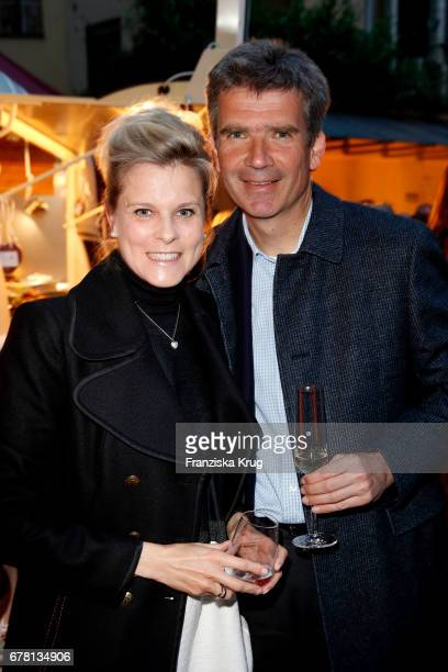 Dr Marcus Maier son of Carolin Reiber and his wife Cathrin Maier attend the Montblanc spring party on May 3 2017 in Munich Germany