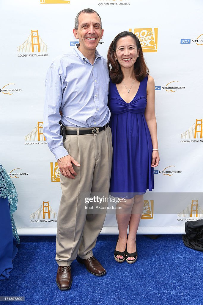 Dr. Marvin Bergsneider (L) and Dr. Linda Liau attend the 2nd annual Golden Portal Awards benefiting The UCLA Brain Tumor Program on June 23, 2013 in Beverly Hills, California.