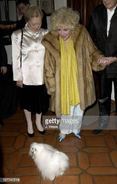 Dr Mathilde Krim and Dame Elizabeth Taylor during amfAR and the Diamond Information Center Honor Dame Elizabeth Taylor with the FirstEver Diamond...