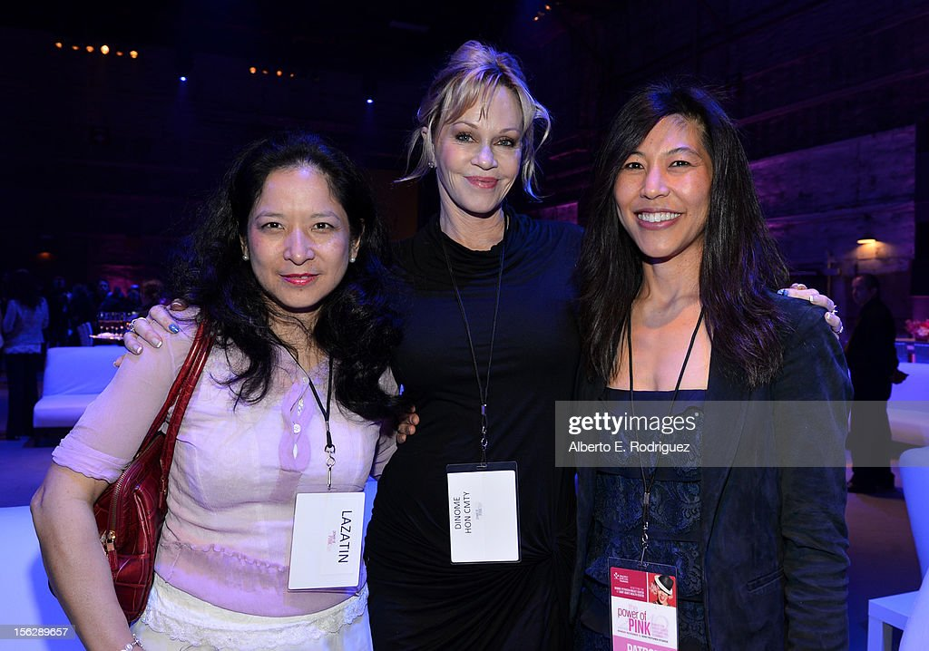 Dr. Maureen Chung, actress <a gi-track='captionPersonalityLinkClicked' href=/galleries/search?phrase=Melanie+Griffith&family=editorial&specificpeople=171682 ng-click='$event.stopPropagation()'>Melanie Griffith</a>, and Dr. Maggie DiNome attend the St. John's Health Center's Power Of Pink benefiting The Margie Petersen Breast Center at Sony Studios on November 12, 2012 in Los Angeles, California.