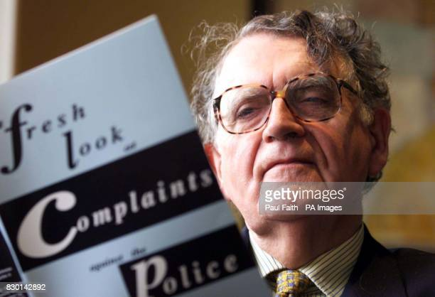 Dr Maurice Hayes of the Policing Commission who opened policing conference in Belfast titled 'A new beginning to policing in Northern Ireland' *...