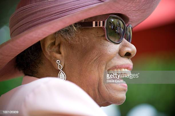 Dr Maya Angelou attends her 82nd birthday at a party with friends and family at her home on May 20 2010 in WinstonSalem North Carolina