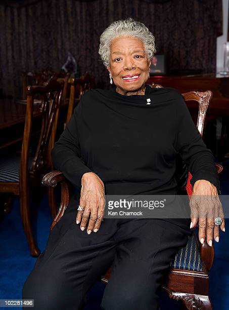 Dr Maya Angelou poses at the the Special Recognition Event for Dr Maya Angelou � The Michael Jackson Tribute Portrait at Dr Angelou's home June 21...