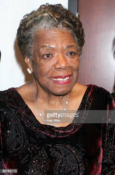 Dr Maya Angelou speaks at The Women In Film and Hallmark Channel Reception honoring Dr Maya Angelou November 15 2005 at The Academy of Motion Picture...