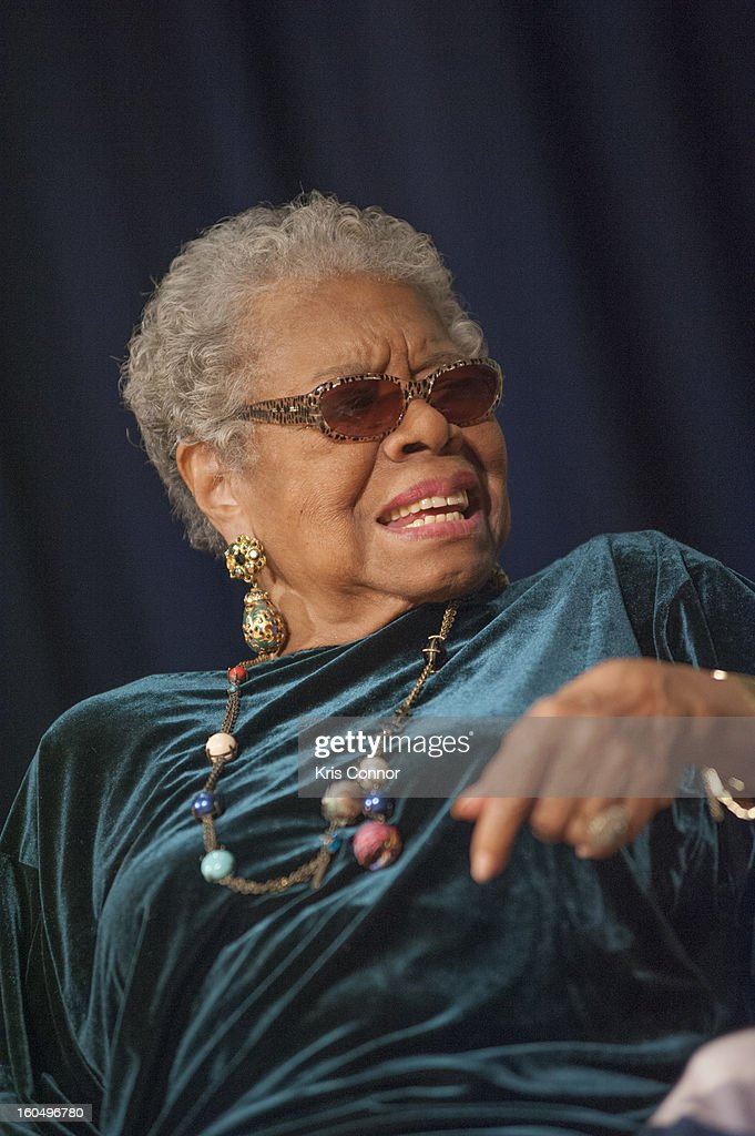 Dr <a gi-track='captionPersonalityLinkClicked' href=/galleries/search?phrase=Maya+Angelou&family=editorial&specificpeople=772742 ng-click='$event.stopPropagation()'>Maya Angelou</a> speaks with Jonnetta Betsch Cole as part of the Smithsonian National Museum of African Art's Director's Discussions Series in the Rasmussen Theater at the Smithsonian's National Museum of the American Indian on February 1, 2013 in Washington, DC.