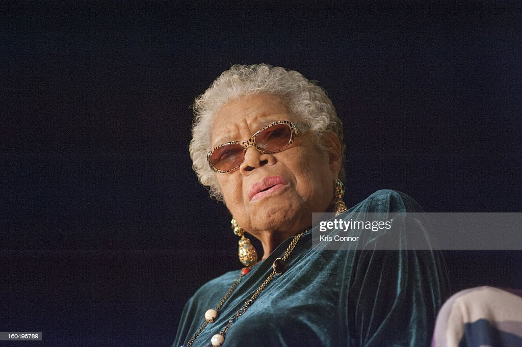Dr <a gi-track='captionPersonalityLinkClicked' href=/galleries/search?phrase=Maya+Angelou&family=editorial&specificpeople=772742 ng-click='$event.stopPropagation()'>Maya Angelou</a> speaks with Jonnetta Betsch Cole as part ofthe Smithsonian National Museum of African Art's Director'sDiscussions Series in the Rasmussen Theater at the Smithsonian's National Museum of the American Indian on February 1, 2013 in Washington, DC.